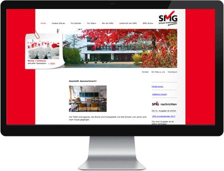 Professionelles Webdesign für SMG Gymnasium Meerbusch