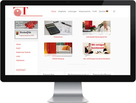 Professionelles Webdesign für Tonollo Teppichreinigung